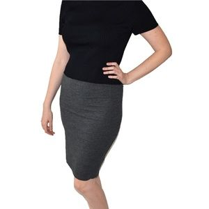 H&M Gray Stretchy Pencil Skirt